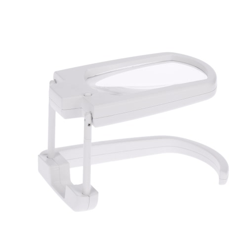 Multifunctional Portable 3X Magnification Foldable Magnifier with LED Light Magnifying Tool