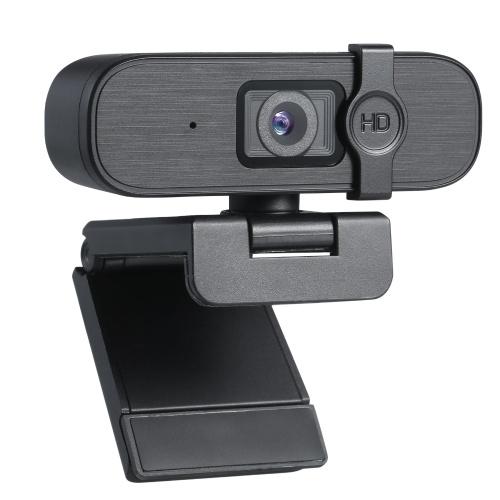 KKmoon USB Веб-камера 2K Веб-камера высокой четкости с микрофоном Компьютерная камера с фиксированным фокусом Драйвер видеокамеры Бесплатная видеокамера Веб-камера Клипса для портативного компьютера