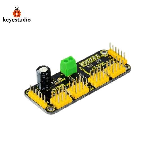 2016 New Keyestudio 16-Kanal 12-Bit PWM / Servotreiber w / I2C-Schnittstelle für Arduino - Schwarz + Gelb Geeignet für Farbdruck, der medizinischen Diagnostik, Kalibrierung von PC-Farbmonitor + Mehr