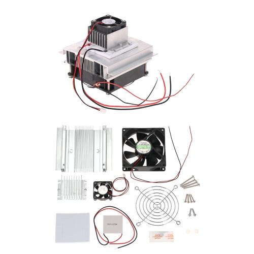 DIY термоэлектрический Пельтье Охлаждение Охлаждение Проводимость модуль системы Kit Semiconductor Cooler + Радиатор + Вентилятор охлаждения + TEC1-12706 фото