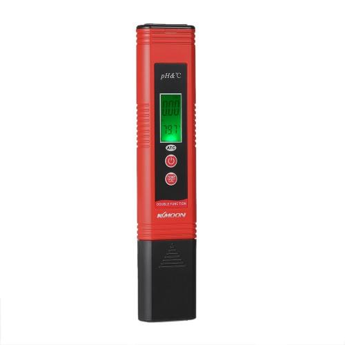KKmoon Professional & Power-saving pH-007 Pen-Type pH medidor de alta precisão com medição de temperatura automático ATC Compensação Função Auto Calibração e Backlight LCD Acidez Tester pH & TEMP dispositivo de análise da qualidade de água portátil