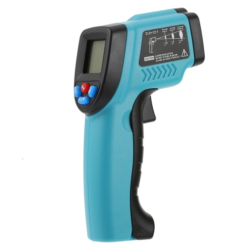 RICHMETERS GM550 -50 ~ 550 ° C 12: 1 Hand Non-Kontakt Digital-Infrarot-IR-Thermometer-Temperatur-Tester Pyrometer LCD-Display mit Hintergrundbeleuchtung