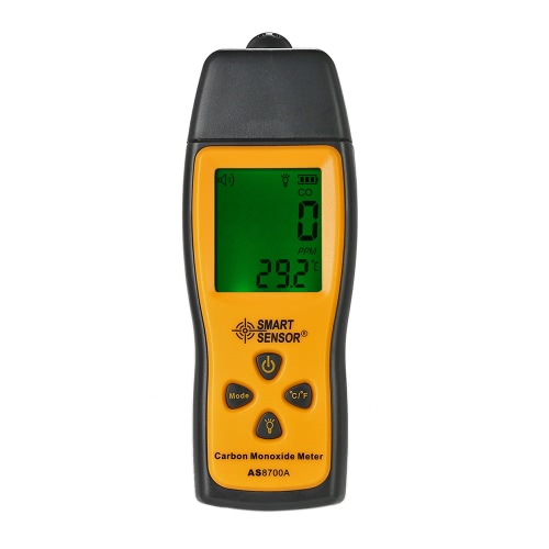 SMART SENSOR Ручной измеритель окиси углерода с высокоточным газоанализатором Газоанализатор монитора Датчик ЖК-дисплея Звуковой и световой сигнал 0-1000ppm