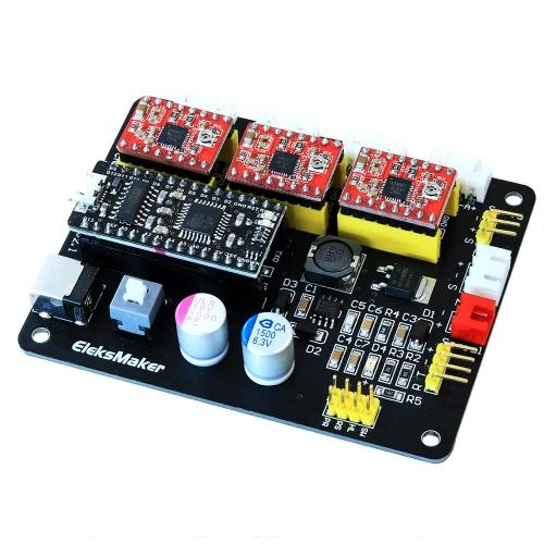 EleksMaker EleksMana XYZ 3 Axis Stepper Motor Controlador Control Panel Panel de control para DIY Laser Grabador