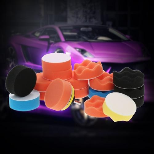 19PCS 3 80mm Car Polishing Pads Waxing Foam Buffing Pad Sponge Kit