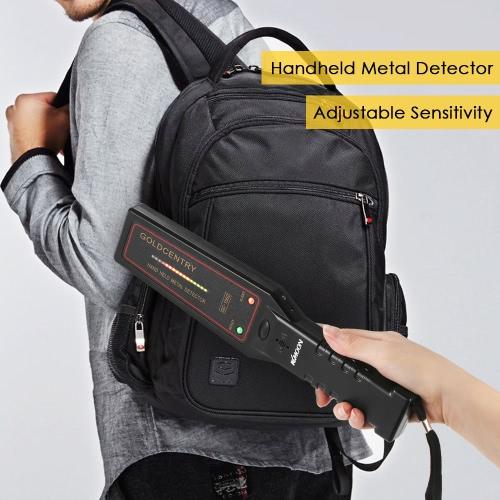 KKmoon Adjustable Sensitivity Portable Metal Detector Safety Inspection Handheld High Performance Security Scanner Scanning Tool