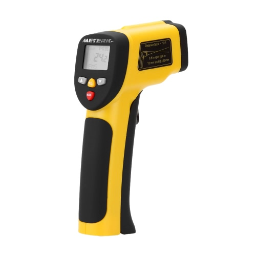Meterk Double Laser High Precision Non-contact IR Digital Infrared Thermometer Temperature Tester Pyrometer Range -50~1050°C( -58~1922°F)