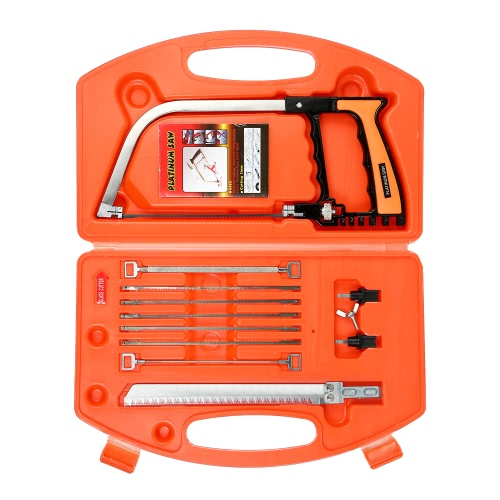 Brand New 14PCS Set Carpenter Saw Wood Saw Pruning Saw With Extra 8 Saw Blades Woodworking Tools Hand Saw Hacksaw Multi Purpose Bow Saw DIY Tool For Glass Plastic Tile Wood Aluminium Metal