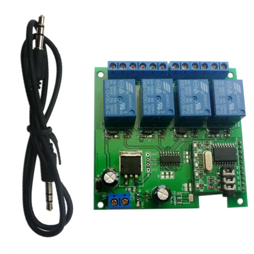 Relè di decodifica audio da 12V 4CH DTMF interruttore auto bloccabile Ritardo Interruttore Home Smart