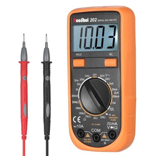 RuoShui Pocket 1999 DC / AC電圧を備えた多機能デジタルマルチメータDMMをカウントするDC電流メータ抵抗ダイオードテスタ導通テスト正弦波出力バックライトLCDディスプレイ