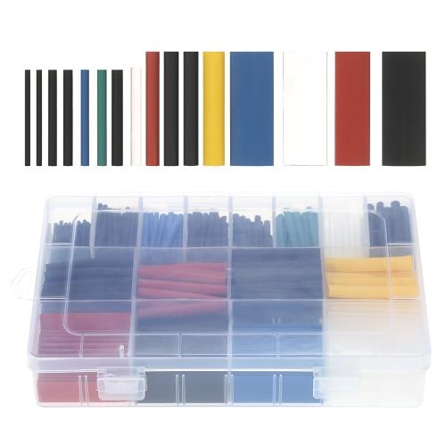 580 SZTUK Assorted 2: 1 Poliolefinowe rurki termokurczliwe Rury bezhalogenowe 6 kolorów 11 rozmiarów Sleeving Wrap Zestaw przewodów drutowych φ1.0-φ10mm