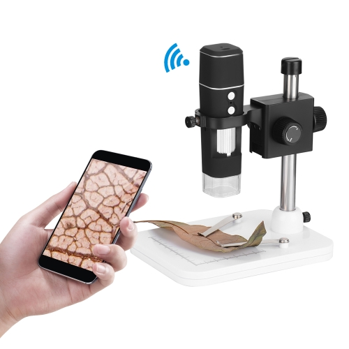 KKmoon 500X Wireless Wi-Fi Digital Zoom Handheld Microscope 1.0MP Camera 8-LED Light Magnifying Glass Magnifier for iOS/Android Phone Tablet