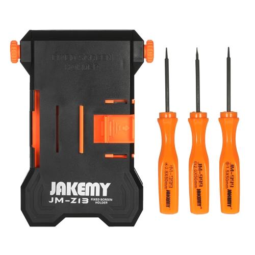 JAKEMY JM-Z13 4 en 1 Soporte de reparación de teléfono ajustable para iPhone 6 Plus Desmontaje Soporte de PCB + 3pcs Destornilladores