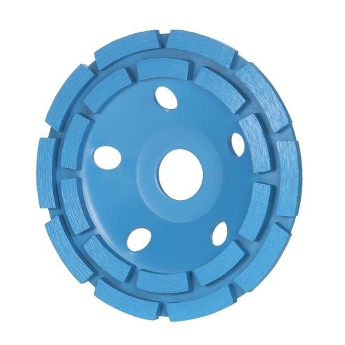 """125 mm 5 """"Disco diamantato a 2 segmenti Disco a tazza con mola a tazza Tazza da 22 mm Foro interno per cemento Granito Muratura Pietra Ceramica Terrazzo Marmo Edilizia"""