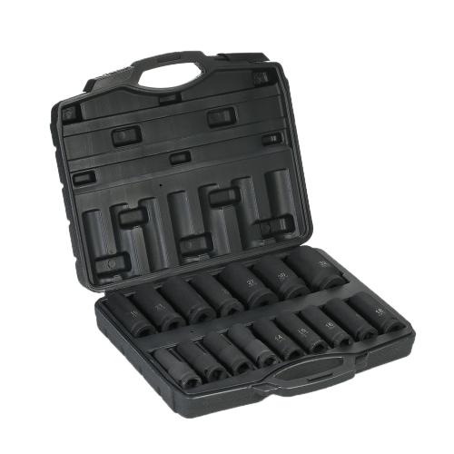 """16 PZ Chiave a Impatto Dadi 1/2 """"10-32mm Socket Wrench Dado Set Auto Tire Repair Tool Chiavi di Installazione"""