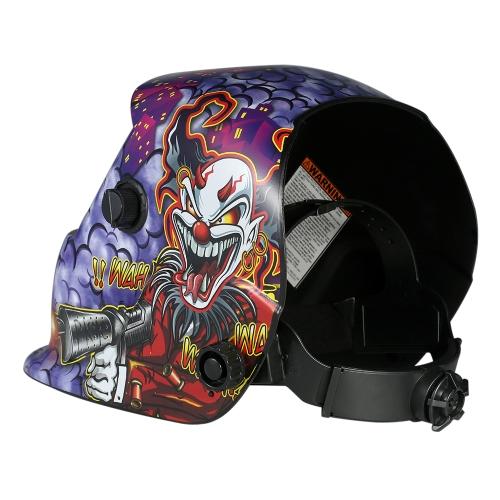 Industrial Welding Helmet Solar Power Auto Darkening Welding Helmet TIG MIG Mask Grinding Joker Design