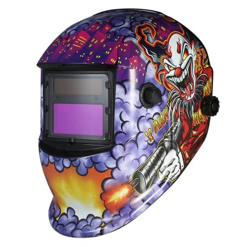 工業用溶接ヘルメット太陽光発電自動化溶接ヘルメットTIG MIGマスク研削ジョーカーデザイン