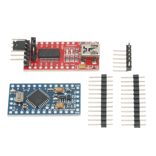 Pro Mini ATMEGA328P 5V / 16MHz Board + FTDI FT232RL USB to TTL Serial Converter Module, совместимый с Arduino