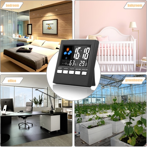 Digital Display Thermometer Humidity Clock