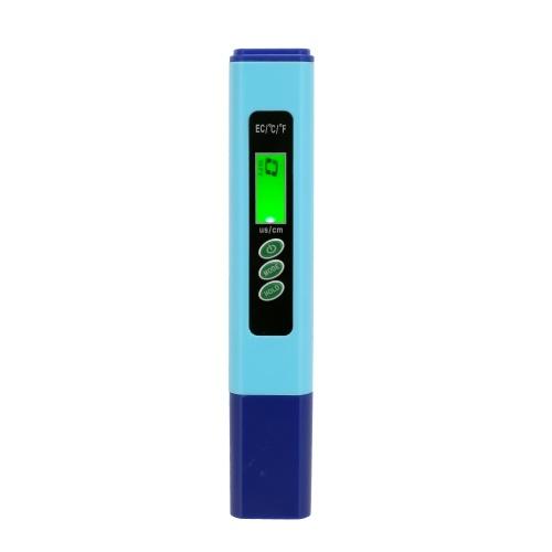 Display LCD con penna di prova della qualità dell'acqua digitale multifunzione ad alta precisione 2 in 1