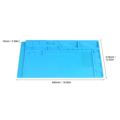 Heat Insulation Silicone Mat for BGA Soldering Repair Solder Station Pad High Temperature Resistance