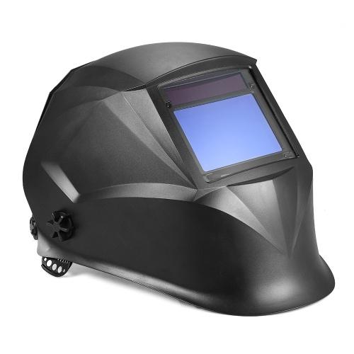Solar Power Auto Darkening Filtro Casco per saldatura TIG MIG con archetto regolabile 4 sensori ottici