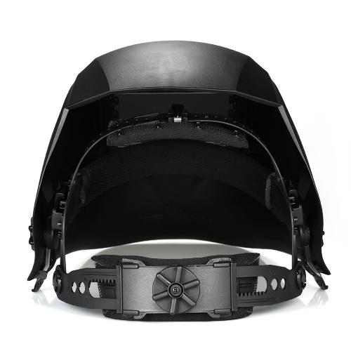 Solar Power Auto Darkening Filter Welding Helmet TIG MIG with Adjustable Headband 4 Optical Sensors