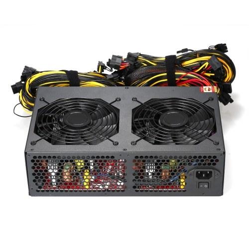Alimentatore switching 3450W Attivo PFC massimo 3600 W con ventilatori a basso rumore 93% Alta efficienza per Bitcoin Ethereum Miner Machine 160-260V