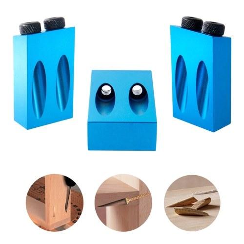 Dual Pocket Hole Jig Kit 6/8/10mm 15กใBit Angle Drive