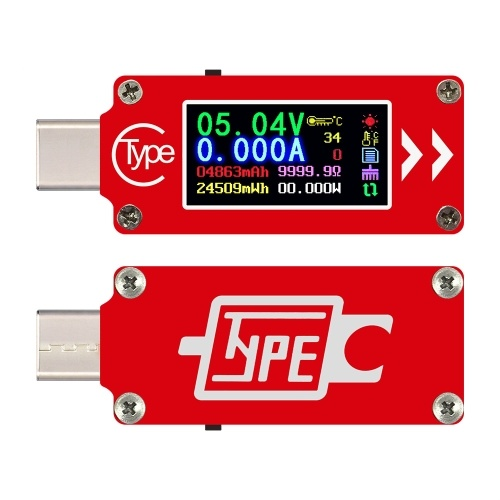 TC64 Type-C Color LCD Display USB Voltmeter Ammeter