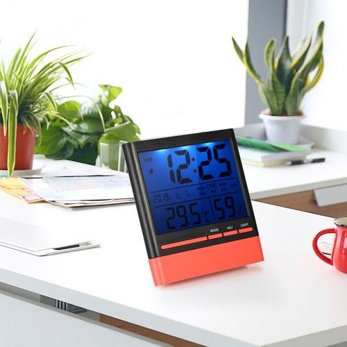 ЖК-цифровой закрытый термометр Hygrometer Room ℃ / ℉ Датчик температуры влажности измерительный термометр-гигрометр с подсветкой фото