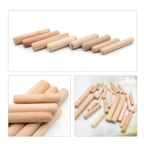 Image de 100pcs goujons en bois cannelés goujons en bois ensemble de 100pcs goupilles goujon broches pour armoires de meubles