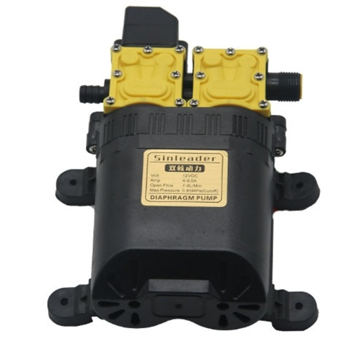 12V DC High Pressure Intelligent Agricultural Electric Water Pump Water Sprayer Stainless Steel Dual Core Power Plants Watering Tools