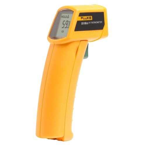 FLUKE 59 Termometro a infrarossi Mini termometro IR Termometro digitale palmare Tester 8: 1 Laser Termometro Pistola Misuratore di temperatura digitale IR -18 ~ 275 ℃ (0 ~ 525 ℉)
