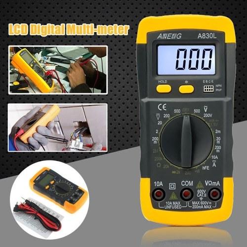 デジタルLCD電圧計電流計オーム計マルチメータボルトAC DCテスターメーター