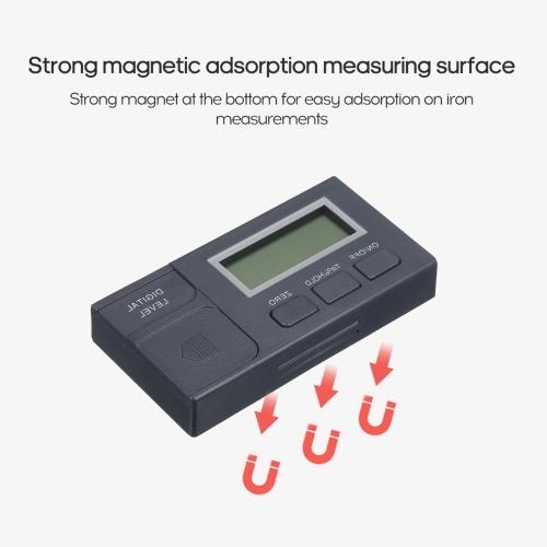 Цифровой измеритель уровня Инклинометр на магнитном уровне Угловой измеритель угла Угловой искатель Коробка уровня Измеритель угла Инструмент для столярного / строительного / автомобильного фото