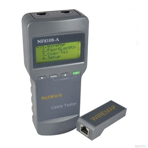 NF-8108 RJ45 Lan Tester Cable Tracker Redes Network Tools Ferramenta de medição de comprimento de cabo RJ45
