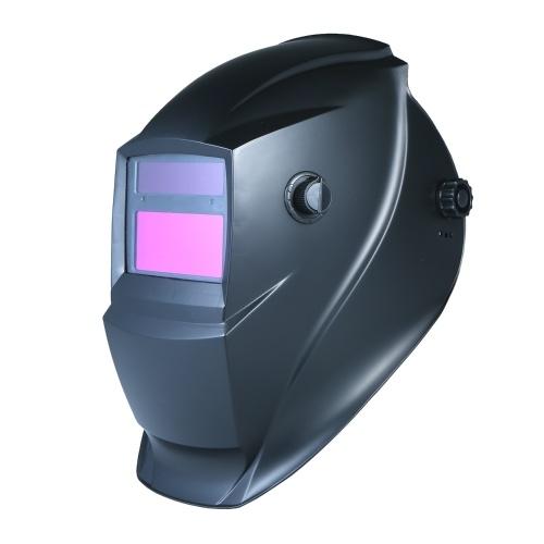 Oscurecimiento automático solar Casco de soldadura Máscara Montado en la cabeza Soldadura por arco de argón Tapa protectora Volteo plano Medio helicoidal