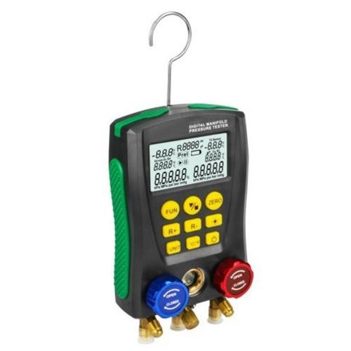 Medidor de pressão Refrigeração Digital Vacuum Pressure Manifold Tester Meter HVAC Temperature Tester Digital Manifold Gauge Meter Medidor HVAC Vacuum Pressure