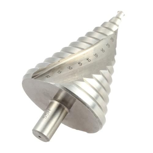 高品質ハイス スパイラル フルート ステップ ドリル専門塔ドリル 6 〜 60 ミリメートル効果的なスパイラル溝不可欠穴カッター ツール