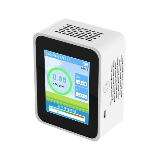 Домашний портативный ЖК-детектор формальдегида PM2,5 CO2 Многофункциональный домашний детектор воздуха Интеллектуальный анализатор качества воздуха Монитор загрязнения воздуха в домашних условиях