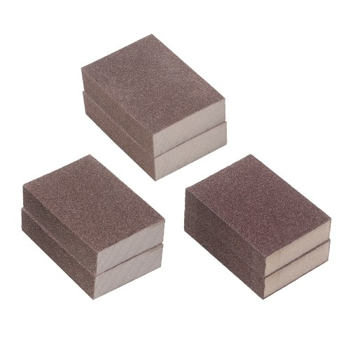 サンディングスポンジ6ピースの再利用可能なウォッシャブルサンディングブロックセット60/120/240グリットコース/ミディアム/ファインサンドブロックスポンジメタルウッド用