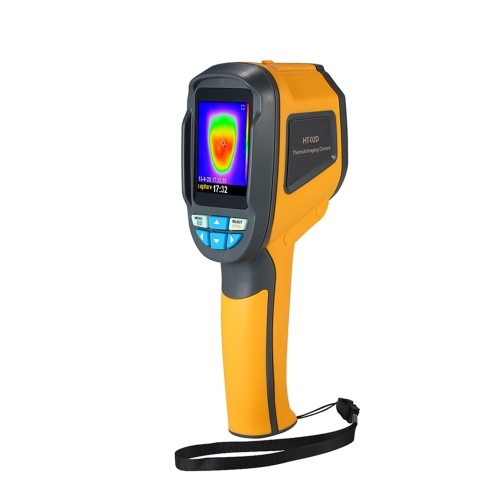 Termómetro de cámara termográfica infrarroja de mano -20 ° C a 300 ° C y resolución IR 1024 píxeles Cámara de imágenes con pantalla a color TFT de 2,4 pulgadas