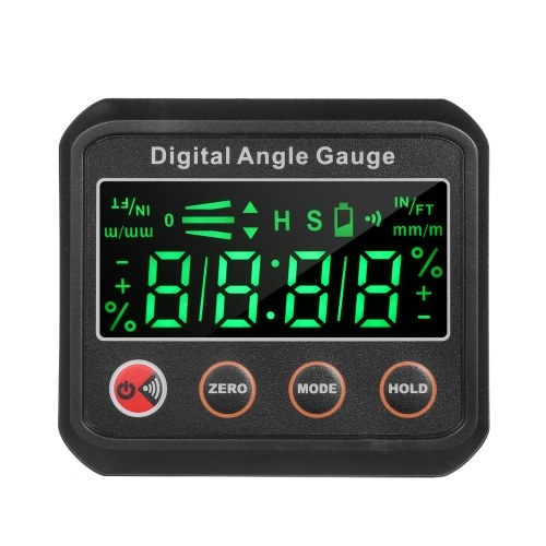 LED Digital Level Angle Gauge Angle Finder Inclinometer 2.7-inch Mini Level Box V-groove Magnetic Base with Audible Buzzer