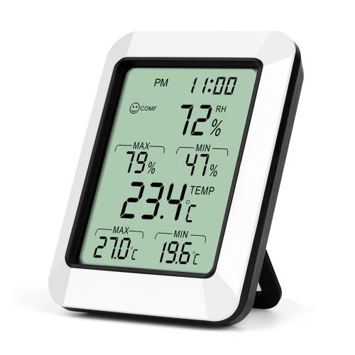 Intelligentes Temperatur-Feuchtigkeitsmessgerät mit LCD-Digitalanzeige Digitales Thermometer-Hygrometer