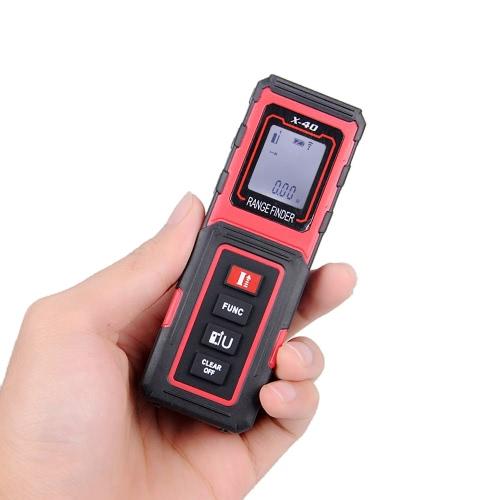 Mini Handheld 40m/131ft Digital Laser Distance Meter Range Finder Diastimeter Distance Area Volume Measurement m/in/ft
