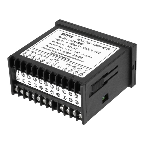 Multifunktionale Intelligent Digital Sensor Meter LED 0-75mV / 4-20mA / 0-10V 2 Relais-Alarmausgang Anzeige