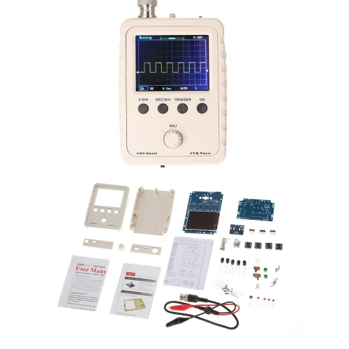 KKmoon 2.4'' TFT Handheld Pocket-size Digital Oscilloscope DIY Kit Parts with Case SMD Soldered Electronic Learning Set 1MSa/s 0-200KHz