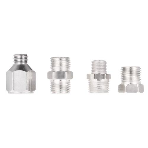 4pcs profesional kit del aerógrafo adaptador de conector de montaje fijado para el compresor y la manguera del aerógrafo