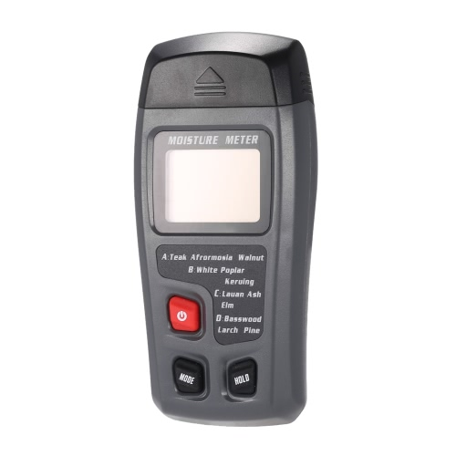 Bside EMT01 Handheld Digital LCD Wood Lumber Moisture Humidity Meter Detector Tester 2 Pin Probe